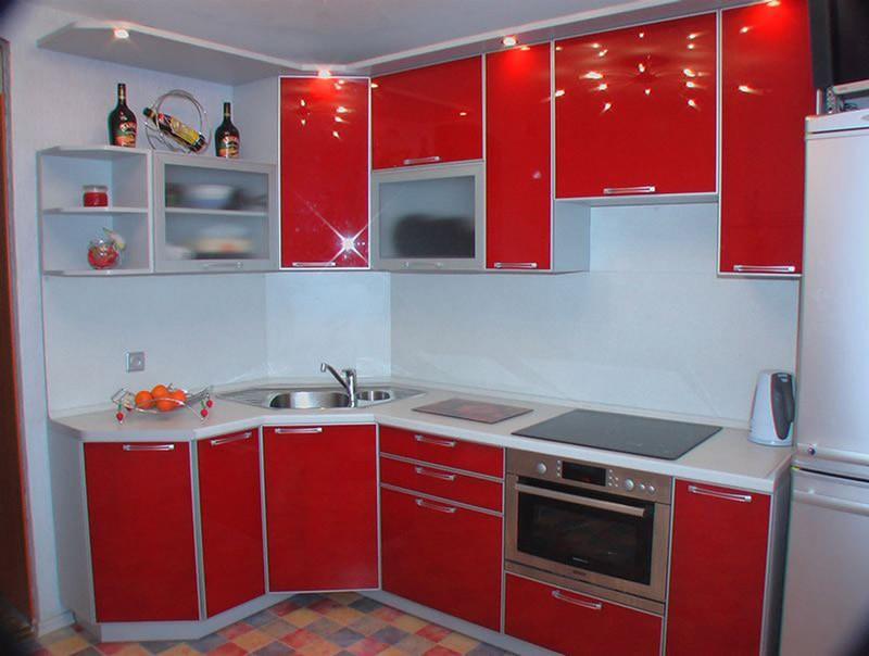 кухня из пластика фото
