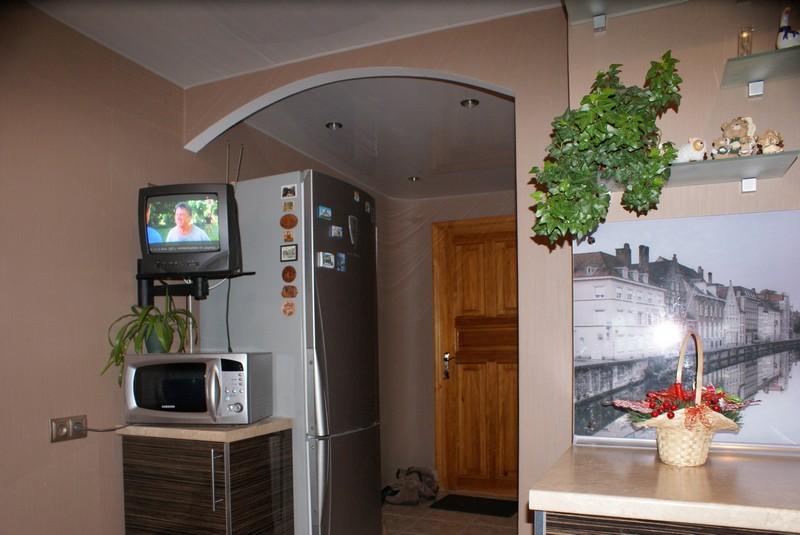 кухня в коридоре в однокомнатной квартире фото
