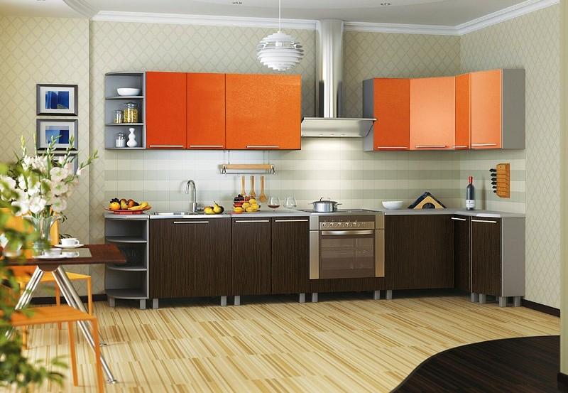 сочетание коричневого цвета в интерьере кухни фото