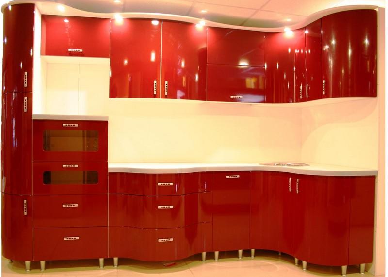 сочетание красного цвета в интерьере кухни фото