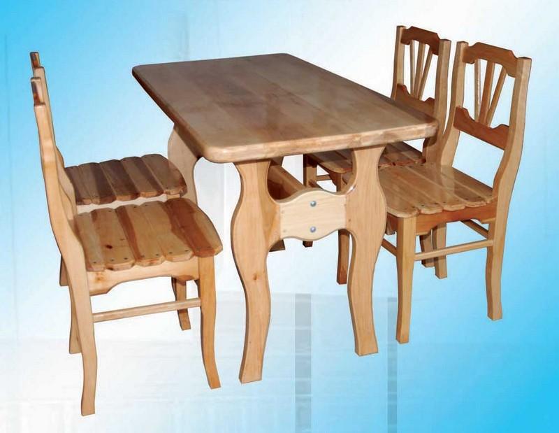 деревянный кухонный стол фото