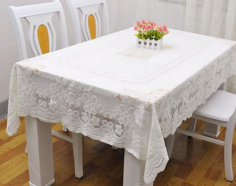 скатерть на прямоугольный стол фото