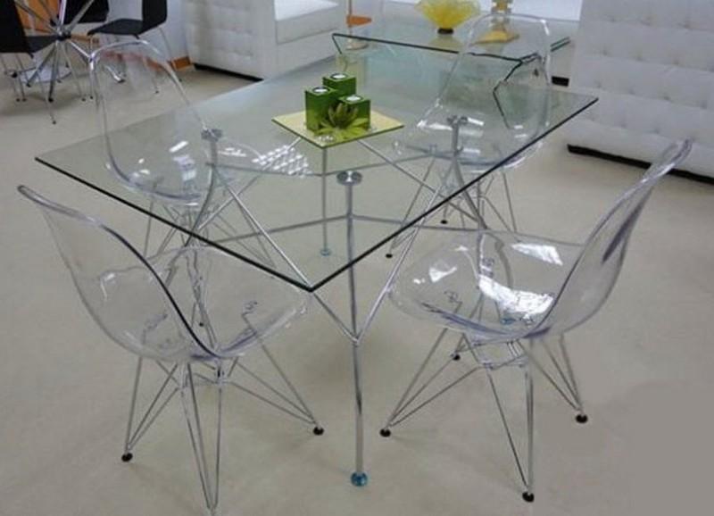 стеклянные стулья для кухни фото
