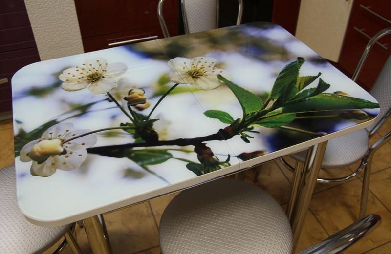 столы с фотопечатью для кухни фото