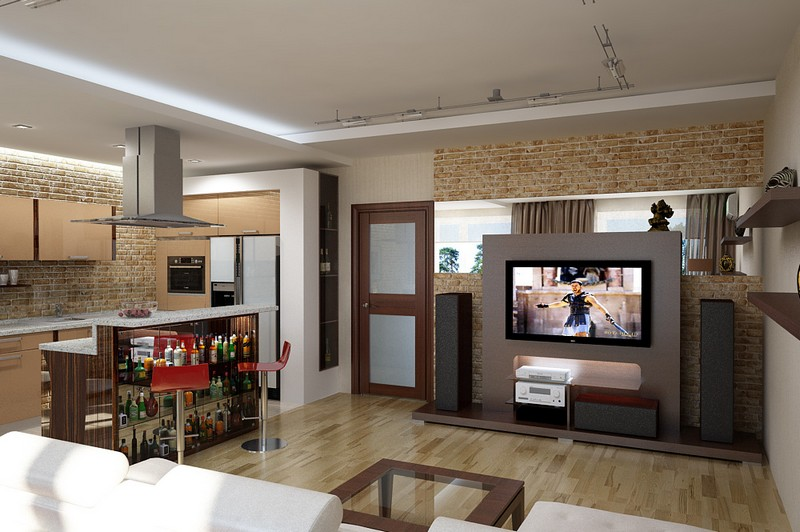 кухня в квартире студии фото