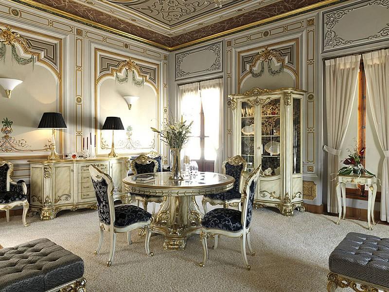 дизайн кухни в стиле барокко фото