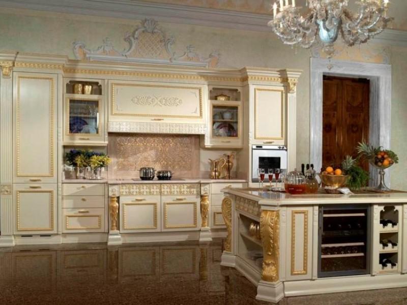 интерьер кухни под старину фото