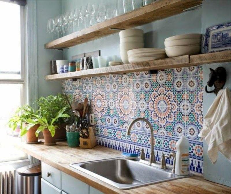 интерьер кухни в греческом стиле фото