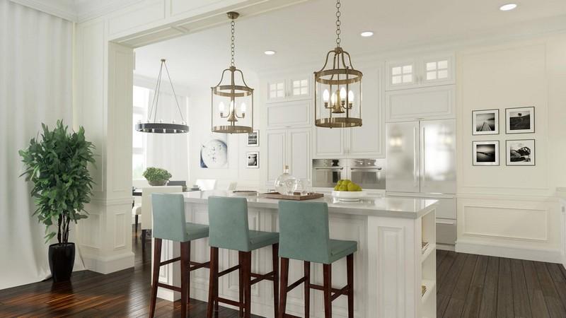 кухня столовая в американском стиле фото