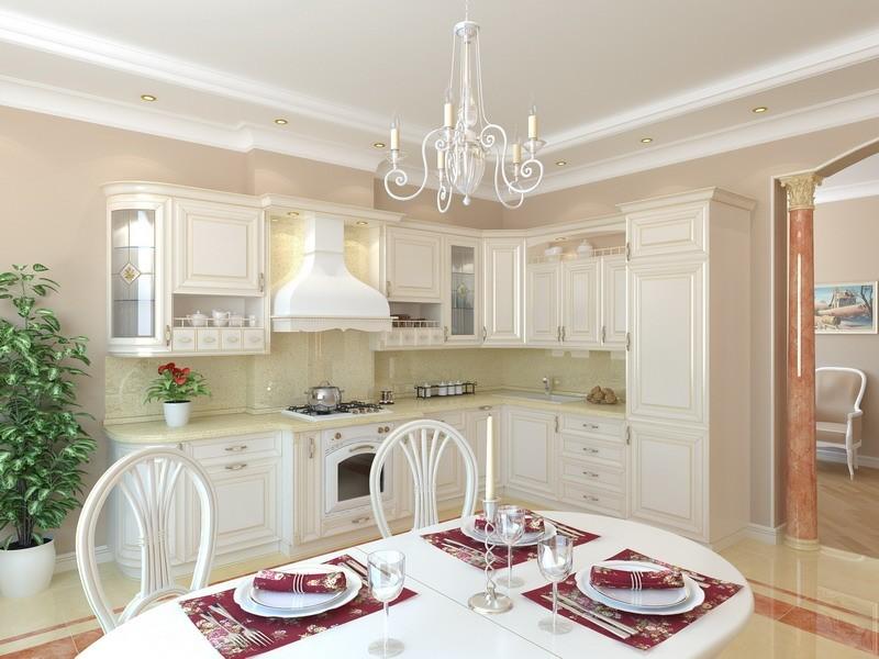 светлая кухня фото