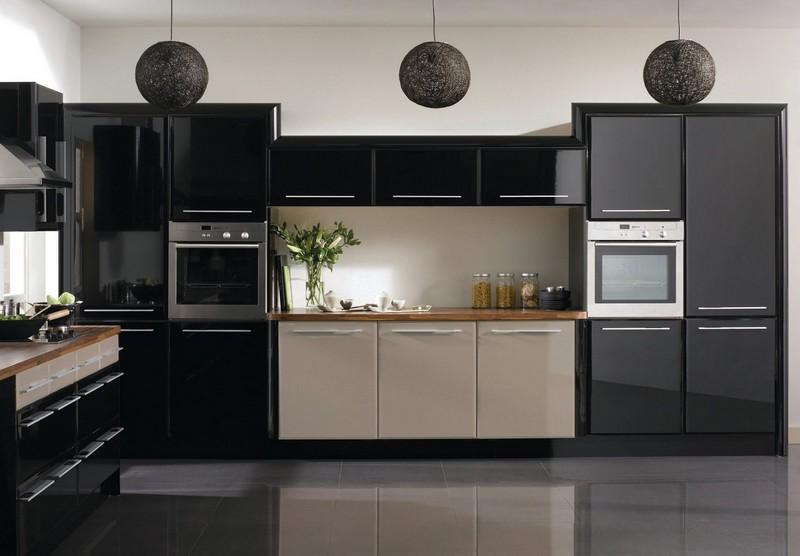 кухни темных цветов фото