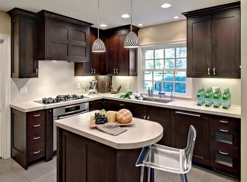 темные кухни в интерьере фото
