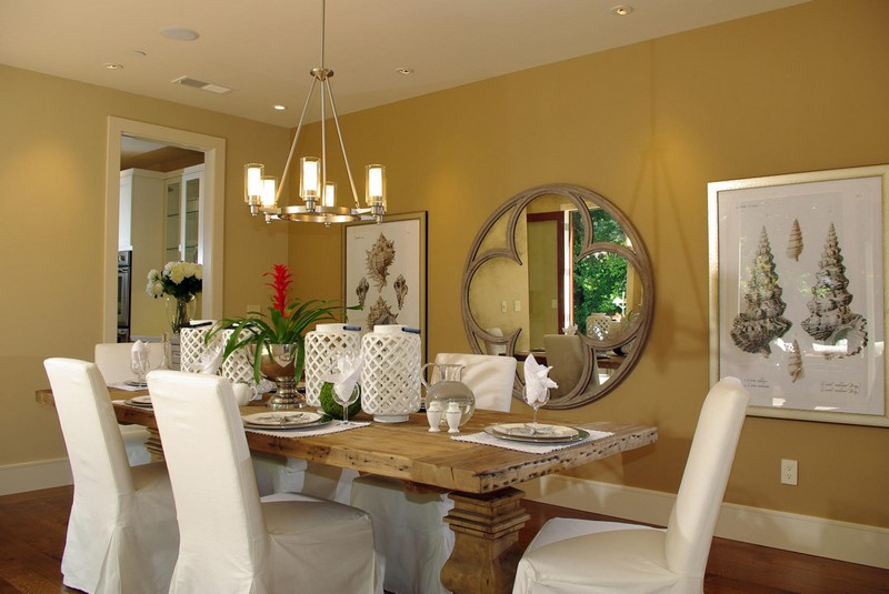 как украсить кухню зеркалами фото