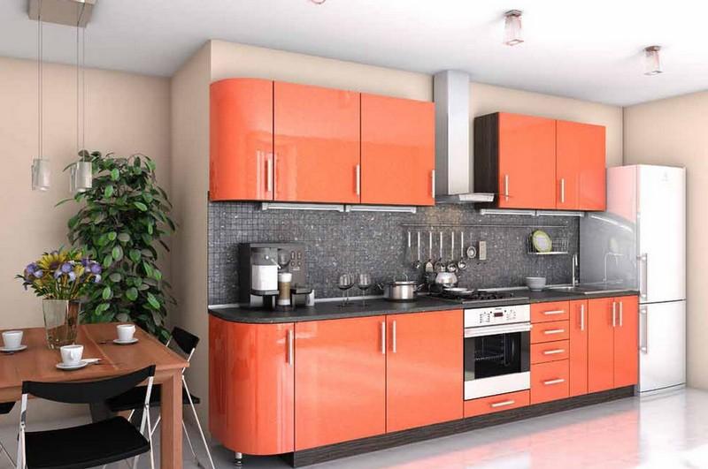 кухня в персиковых тонах фото