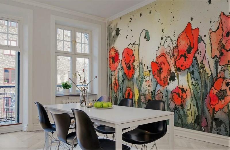 идеи росписи стен на кухне фото