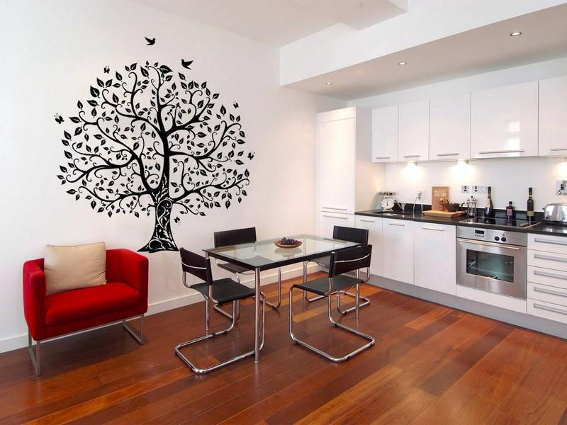 как расписать стены на кухне