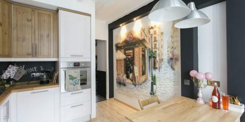 рисунки на кухонной стене фото