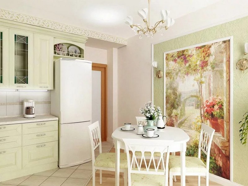 роспись стен на кухне фото