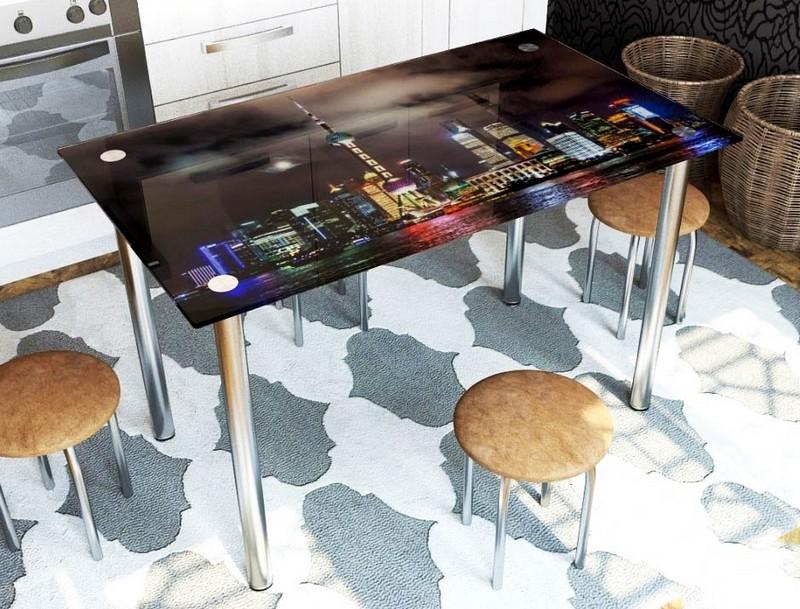 стол с фотопечатью на кухню фото