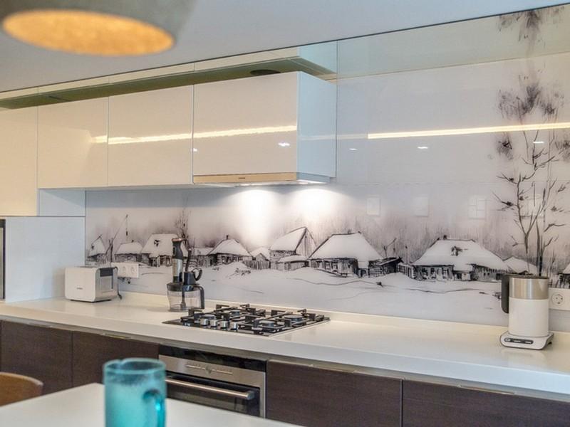 стеклянное панно для кухни фото