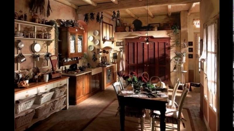 красивый интерьер кухни в частном доме фото