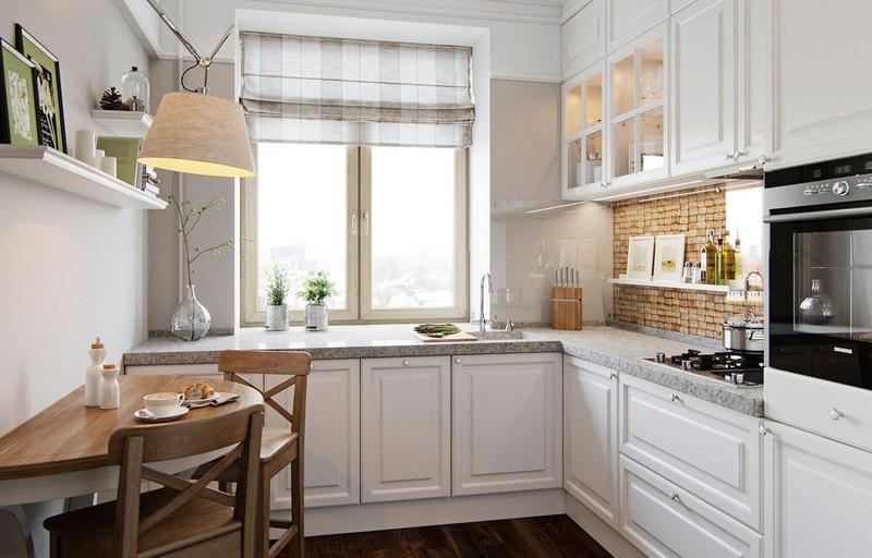 светлый интерьер кухни фото