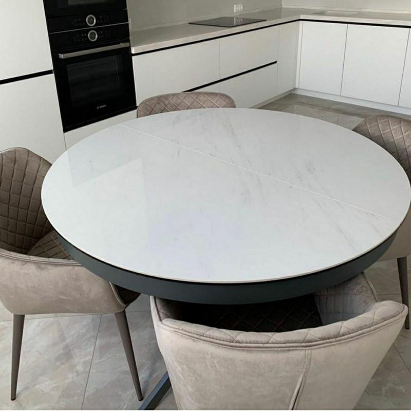 кухонный стол с фотопечатью под мрамор фото