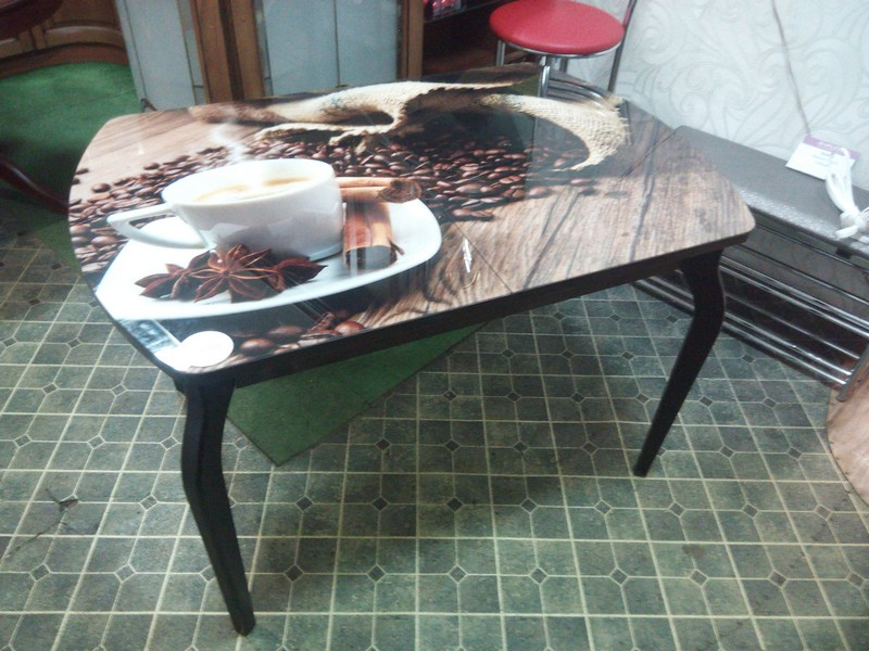 кухонный стол с фотопечатью фото