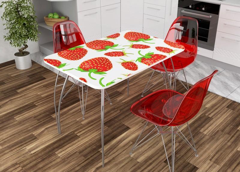 стол для кухни с фотопечатью фото