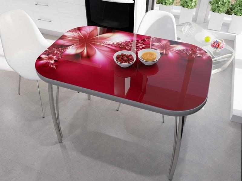 стол кухонный стеклянный с фотопечатью фото
