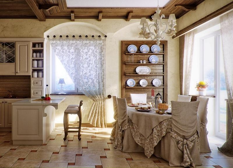 уютная кухня шале фото