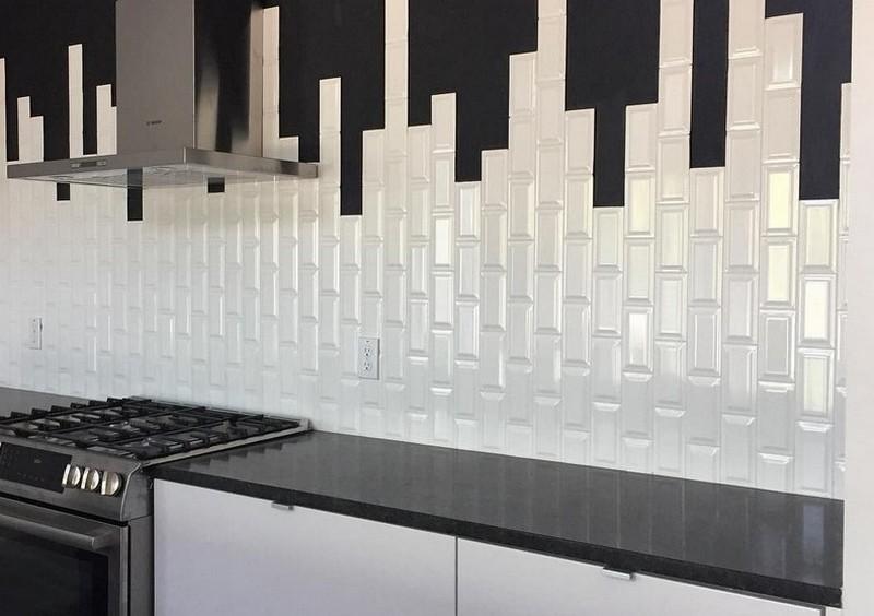плитка кабанчик белая на кухне фото