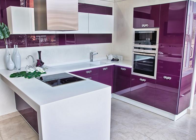 акриловая кухня фото