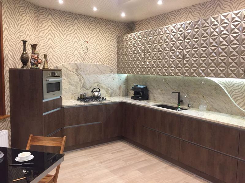 акриловые кухни 3D фото