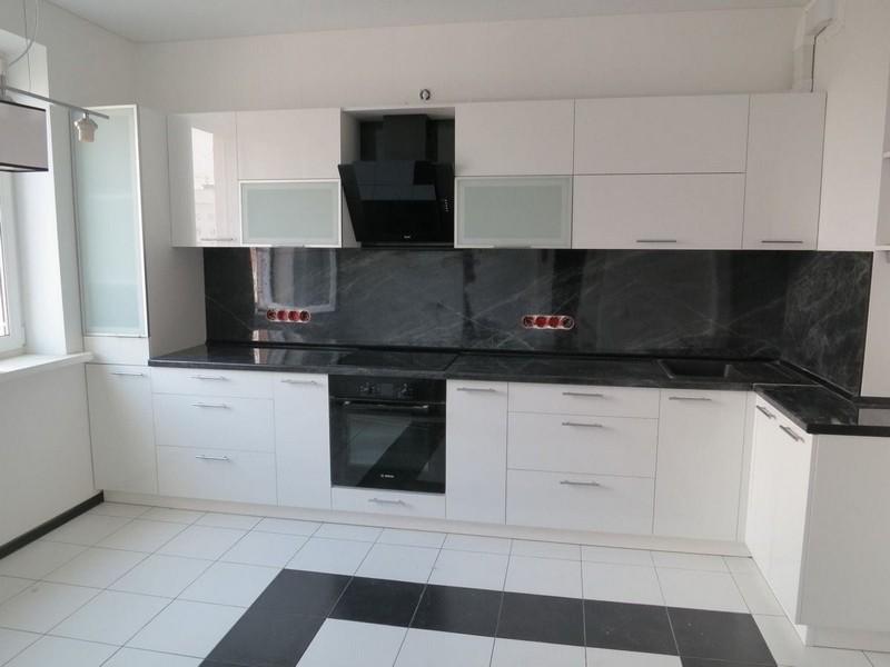 белая акриловая кухня фото