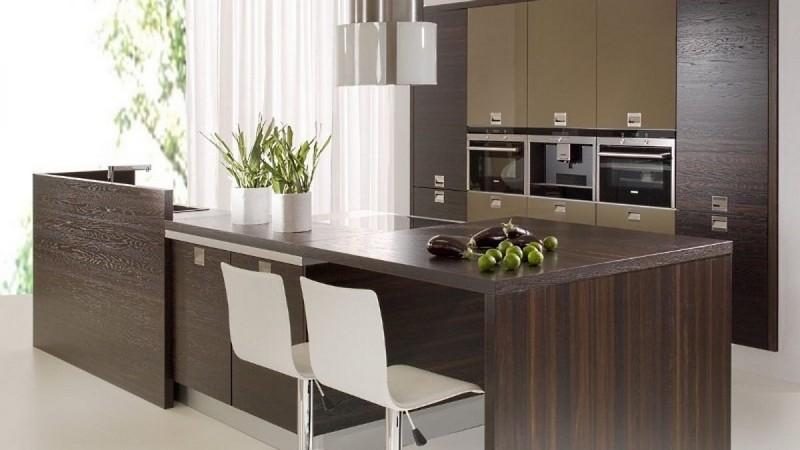 фасады для кухни из шпона фото