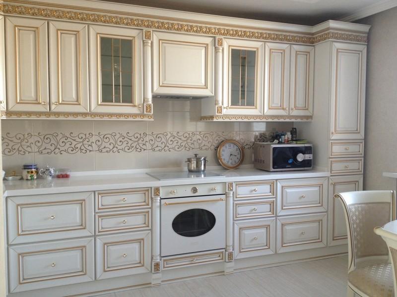 кухня белый шпон фото