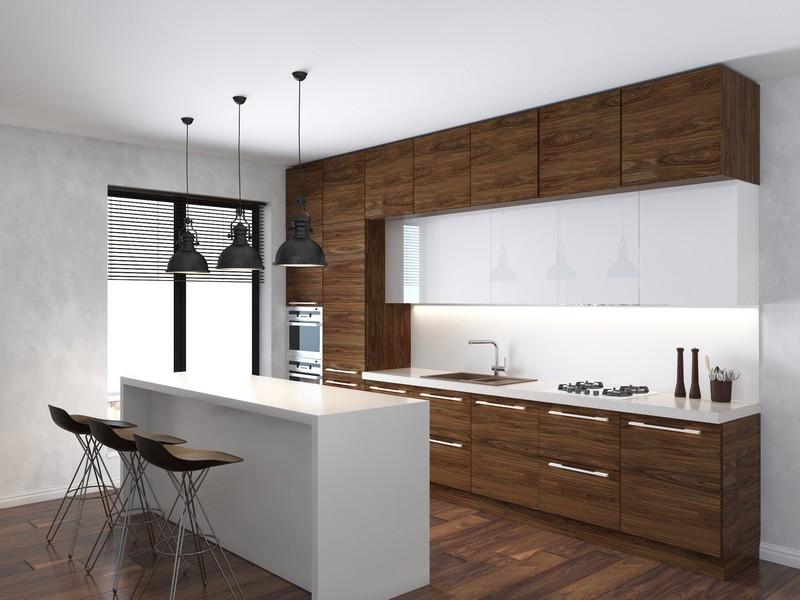 кухня из шпона фото