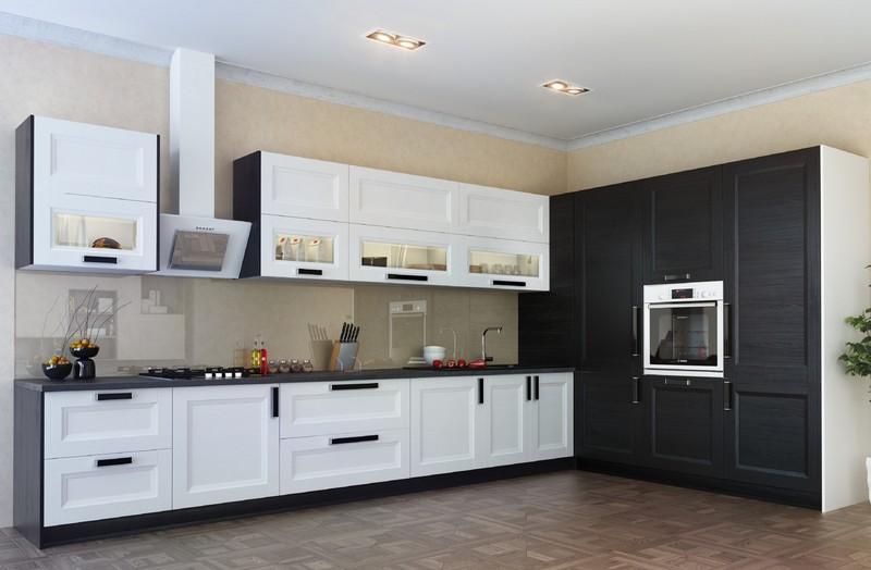 шпонированные фасады для кухни фото