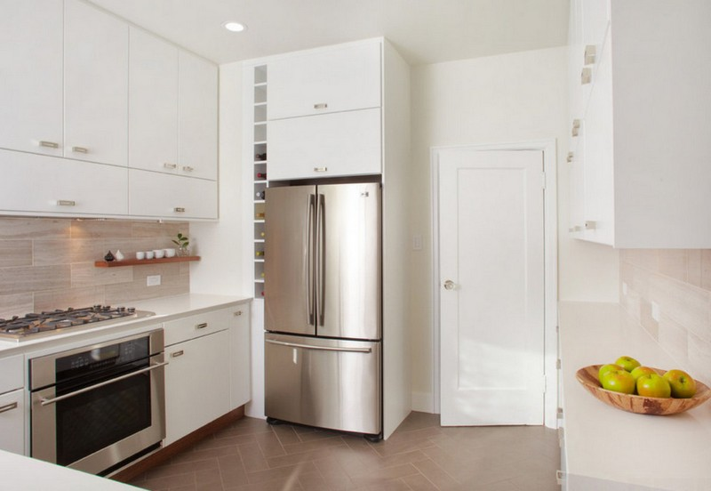 холодильник в нише на кухне фото