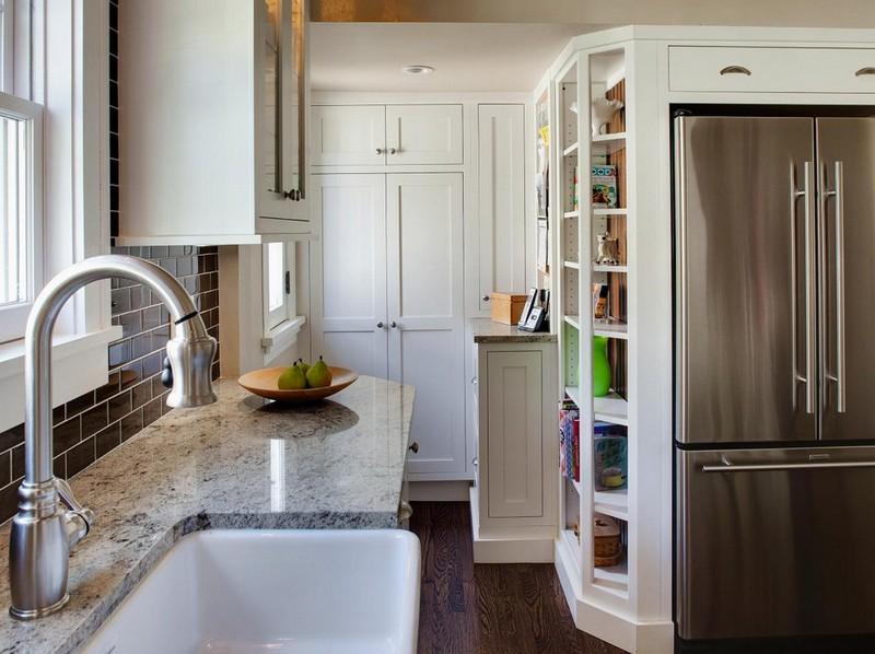 холодильник в нише фото