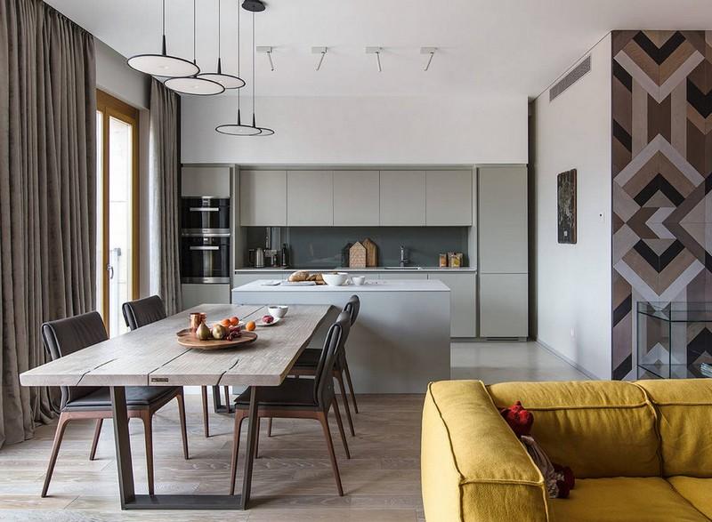 кухня с окнами на террасу фото