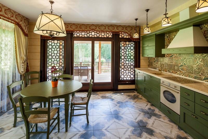 кухня столовая с террасой фото