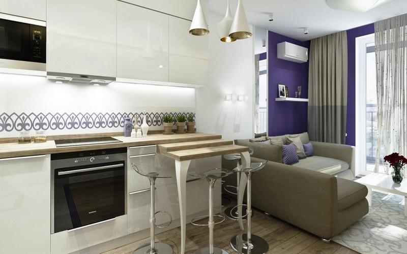 кухня столовая с диваном фото