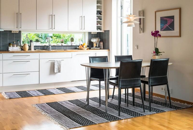 кухня столовая с ковром фото