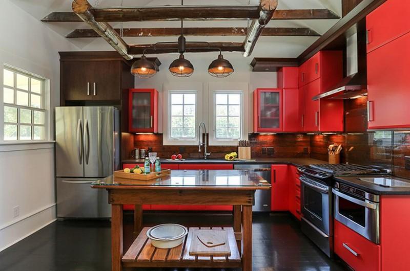 какой выбрать цвет кухни с темным полом