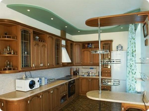 чем отделать потолок на кухне фото