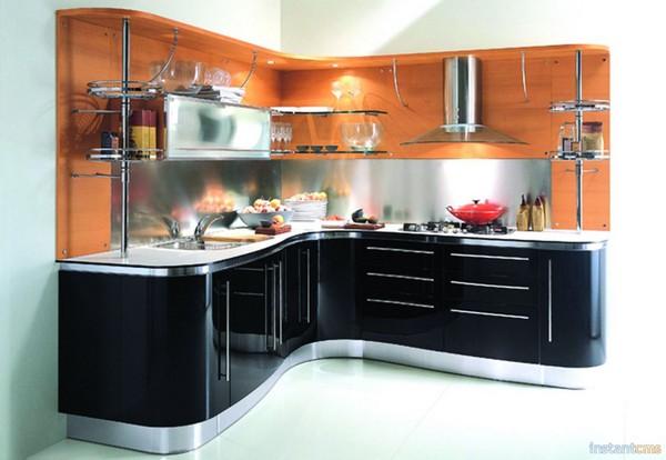 дизайн угловой небольшой кухни фото
