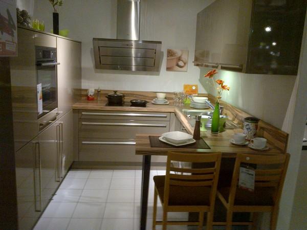 маленькая кухня с барной стойкой фото