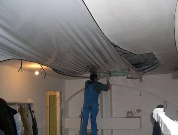 ремонт потолка на кухне фото